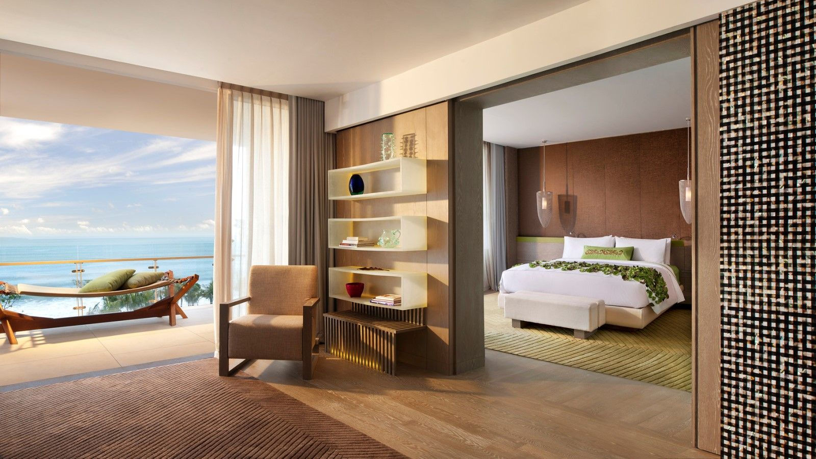 Bali 5 star hotels guest rooms at w retreat spa bali for W hotel in room dining menu singapore